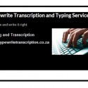 Typing and transcription services